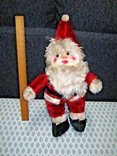 Vintage Plush Santa Claus Figure Doll Christmas 1950s 60s? Composition T2