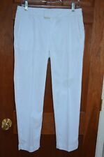 """NWT Lilly Pulitzer White """"Elaine"""" 100% Cotton Cropped Pants Size 6 Retail $118"""