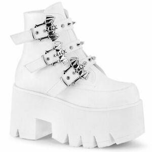 ASHES-55  White Vegan Leather