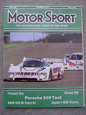 Motor Sport (June 1986) Porsche 959, Jag XK120, BMW 328, Bristol 450, Monaco GP