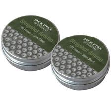 Jack Pyke 2 Tins of  Slingshot Ammo 200pcs 9mm steel BB Catapult Black Widow