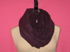 Handmade Cowl/Infinity Scarf - Fleece - Solid - Purple - One Size