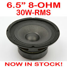 "6.5"" 30WRMS 8 Ohms PA DJ Speaker Subwoofer Woofer Sub Driver 6.5 Inch Quality"