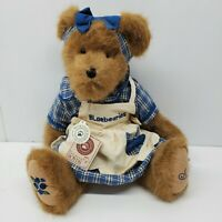 """Boyds Muffin B Blueberry Plush Teddy Bear Jointed  New Tags 15"""""""