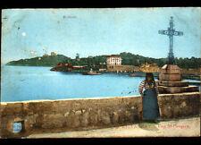 SAINT-JEAN (06) CALVAIRE animé au CAP ST-HOSPICE en 1905