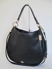 Coach Nomad Hobo Tote Shoulder Handbag Black Leather 36026