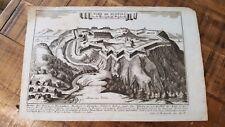 Gabriel Bodenehr Engraving - Fort De Fuentes - Circa 1700