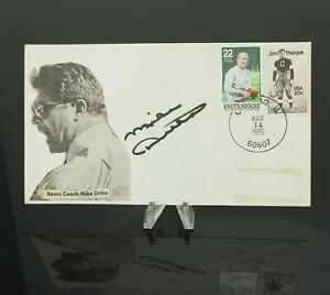 💎 MIKE DITKA Chicago Bears Autographed Signed Envelope 1990 Postmark 💎