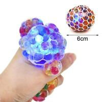 5cm Squishy Mesh sensory stress reliever ball toy autism squeeze anxiety fidget+