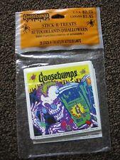 Vtg Goosebumps Stickers Stick-R-Treats Lot 20 Shts Halloween Hallmark Skeletons