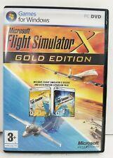Microsoft Flight Simulator X Gold Edition PC Windows 2008 VG Condition 3 Discs ^