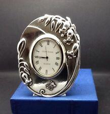SILVER SCENES Battery Operated Decorative Clock Bluebell Design Rare New Boxed