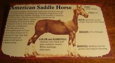 AMERICAN SADDLE BREED INFORMATION Rustic Horse Rider Ranch Barn Sign Home Decor