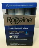 Men's Rogaine 5% Minoxidil Hair Loss Regrowth Treatment Foam 3 Month Supply Bald