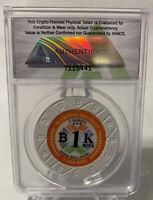 **ANACS MS70** BTCC Mint Chip 1k .001 Bit Coin - Like Casascius, Titan - Loaded