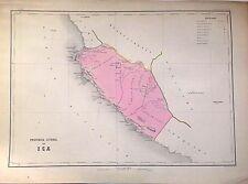 PERÚ,provincia litoral de Ica.Paz Soldán.Geografía del Perú 1865.