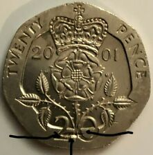 United Kingdom 20 pence, 2001 ERROR on the Reverse (Collectible Coin)