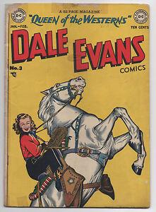 DC  DALE EVANS COMICS #3  1949  GOLDEN AGE WESTERN  LOW GRADE  SOLID COPY