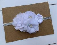 White Vintage Baby/Toddler /Girl Headband,Bridal Headband,Flower girl headband
