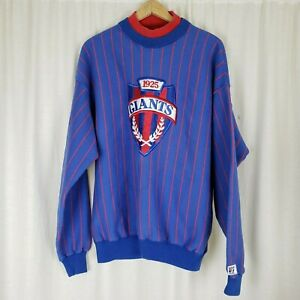 Vintage The Game 1925 New York Giants Pinstriped Pullover Sweatshirt DBL Collar