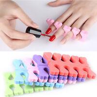 10Pcs Soft EVA Finger Toe Separator Foot Manicure Pedicure Nail Art Supplies