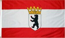 3x5 Berlin German Germany Bear Civil Crown Flag 3'x5' Banner Brass Grommets