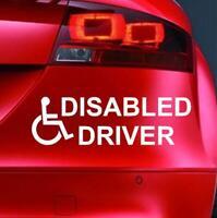 DISABLED DRIVER Sticker Funny Car Window Bumper VAN 4X4 JDM Novelty Vinyl Decal