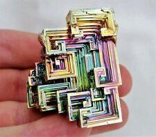 GEMCORE: One (1) Lg Rainbow Bismuth Crystal Display Mineral Specimen Education