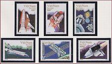 VIETNAM N°1288/1293** Espace, fusée 1992, Vietnam 2356-2361 Space, shuttle MNH