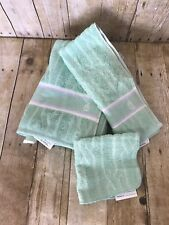 Nautica Lime Green Bath Towel Hand Towel Washcloth SET NWT