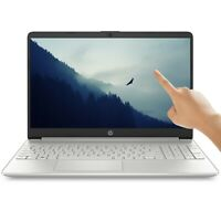NEW HP 15.6 HD TOUCHSCREEN Intel i3-1005G1 3.4GHz 256GB SSD 8GB RAM Win10 Silver