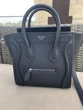 Celine Nano Baby Grain Luggage Black Purse Bag