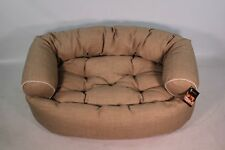 Bowsers Pet Products Double Donut Dog Bed Large Flax