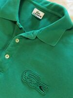 Lacoste Men's Sz 6 Large Big Alligator Logo Short Sleeve Golf Polo Shirt EUC