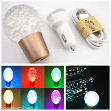 Color-change LED Crystal Bubble Ball Manual Transmission Car SUV Gear Shift Knob