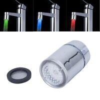 1X(Tri-color LED Temperature Sensor Spray Faucet Water Tap P9Q8) M3