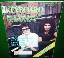 1979 Joe & Gino Vannelli, Stan Kenton, Dave Smith's Prophet, KEYBOARD Magazine