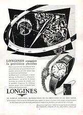 ▬► PUBLICITE ADVERTISING AD Montre Watch LONGINES 1954