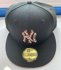 Exclusive New Era 59Fifty 7 3/4 New York Yankees Safari Fitted Cap Black Orange