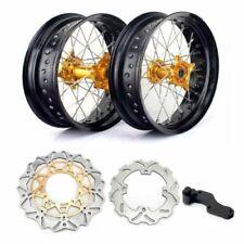 17 Supermoto Wheels Set Hubs Rims Rotors For Suzuki Rmz250 07 21 Rmz450 05 21