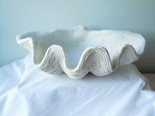 "Resin Clam Shell Bowl/Dish 13""- Coastal Nautical Home Decor"