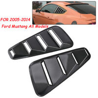 For 2005-14 Ford Mustang 1/4 Quarter Side Window Louvers Scoop Cover Vent