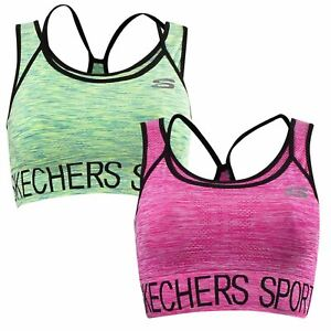 Skechers Ladies Womens Sports Bra Active Gym Running Active Wear Cropped Top