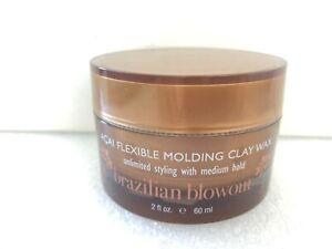 BRAZILIAN BLOWOUT Acai Flexible Molding Clay Wax 2oz, Medium Hold & Matte Finish