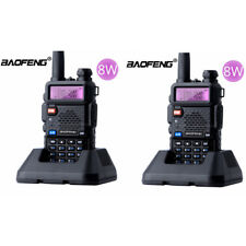 2X BaoFeng UV-5R Real 8W Walkie Talkie VHF UHF FM Ham Two-Way Radios Transceiver