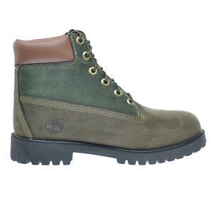 Timberland 6Inch Premium Big Kids Waterproof Boots Brown-Green tb0a14z2