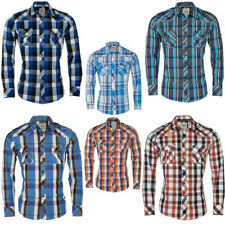 Herren Hemd Karierte Slim Fit Hemden Business Freizeit Langarm Hemd
