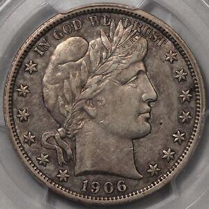1906-O Barber Half Dollar PCGS & CAC XF-45. Better Date!