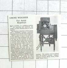 1960 Gross Weighing Machine For Aerial Ropeways, Adequate Weighers Ltd, Sutton