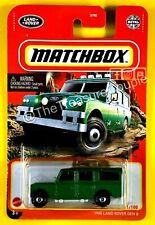 Matchbox 2021 - 1965 LAND ROVER Gen 2 - New RELEASE Green - S108